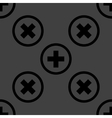 Plus web icon flat design seamless pattern vector