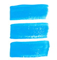 Bright blue ink brush strokes vector
