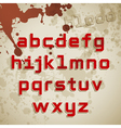 Grunge font lowercase characters vector