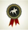 Horse symbol award rosette vector