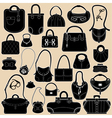 Bag black set 380 vector