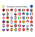 Buttons with flags of europe vector