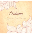 Template with abstract wavy striped leaves vector