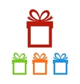 Set of gift boxes with place for text vector