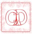 Cd monogram vector