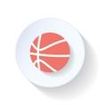 Basketball flat icon vector