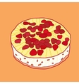 Strawberry pie vector