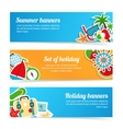 Holiday banners set vector
