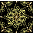 Background with gold flower vector