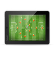 Tablet pc with football game vector