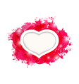 Beautiful heart for card valentines day vector
