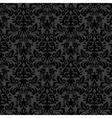 Black damask vintage floral pattern vector