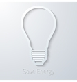 Save energy paper light bulb flat icon vector