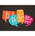 Sale poster with speech bubbles in flat design vector