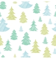 Green blue christmas trees silhouettes textile vector