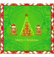 Abstract card with christmas gingerbread tree vector
