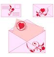 Floral envelopes vector
