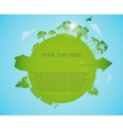 Green speech bubble with a flowers vector