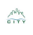City skyline design template vector