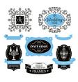 Set of wedding frames and labels vector