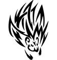 Porcupine in tribal style - vector