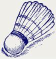 Sketch badminton ball vector
