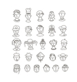 Smiling various faces vector