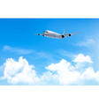 Travel background with an airplane and white vector