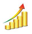 Golden coin graph money vector