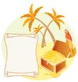 Treasure island scene vector