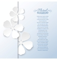 White flowers and copy space vector