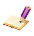 Icon writing with a pencil vector