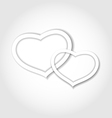 Paper hearts for valentine day for design card vector