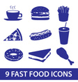 Fast food icons set eps10 vector