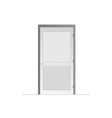 Door on a white background vector