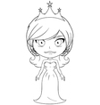 Princess coloring page 6 vector