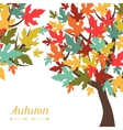 Background of stylized autumn trees for greeting vector