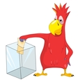 Funny parrot election vector