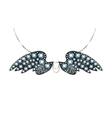 Diamond wings vector