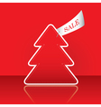 Christmas tree with sale tag vector