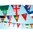 World flag bunting vector