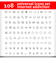 Universal icons set second collection vector