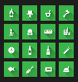 Camping icons ong shadow vector