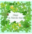 Background for stpatricks day with clovers vector
