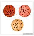 Set of basketball ball on white background vector