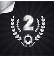 Second place silver medal theme on dark background vector