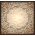 Vintage retro background with ornamental frame vector