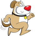 Cartoon running dog vector
