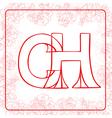 Ch monogram vector