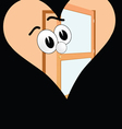 Big eye in the heart on a black background vector